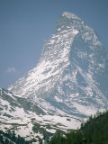 A view of the majestic Matterhorn in the Swiss Alps Lámina fotográfica por Gordon Wiltsie