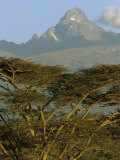 A View of Mount Kenya from Near Karatina Photographic Print by Michael S. Lewis