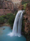 A Blue Waterfall Wets the Arid Landscape of the Grand Canyonl Photographic Print by Taylor S. Kennedy