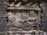 Relief Sculpture on Temples at Borobudur Photographic Print by Paul Chesley
