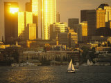 The Seattle Skyline Hovers above Lake Union Photographic Print by Phil Schermeister