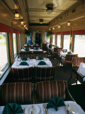 A Dining Car Aboard the Royal Hudson Steam Train Photographic Print by Michael S. Lewis