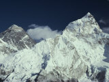 View of Mount Everest and Mount Nuptse Photographic Print by Gordon Wiltsie