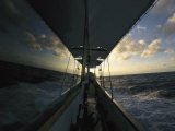 The Sea and Sky Reflected in the Windows of a Yacht Photographic Print by Steve Winter