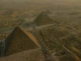 Aerial of Pryamids of Giza Photographic Print by Kenneth Garrett