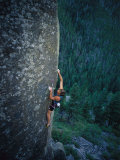 A Rock Climber in Montanas Hyalite Canyon Photographic Print by Gordon Wiltsie