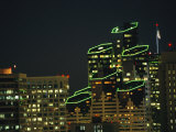 San Diego High Rises Brightly Lit at Night Photographic Print by Karen Kasmauski