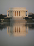 The Lincoln Memorial Casts a Reflection in a Nearby Pool Photographic Print by Karen Kasmauski