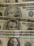 A Close View of Denominations of American Paper Money Photographic Print by Joel Sartore
