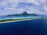 Center of Bora Bora and Outer Rim as Seen from a Helicopter Photographic Print by Todd Gipstein