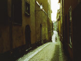 Narrow Street in Stockholm Photographic Print by Cotton Coulson