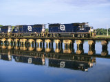 An Early Freight Train Crosses the Trestle over the Matanzas River Photographic Print by Stephen St. John