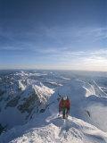 A Man Summits a Mountain in Grand Teton National Park, Wyoming Papier Photo par Jimmy Chin