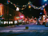Second Avenue, the Main Business Street in Fairbanks, Decorated for Christmas Photographic Print by W. Robert Moore