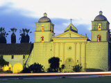 Sunset on the Santa Barbara Mission Photographic Print by Rich Reid