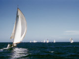 A 35-Foot Sailing Sloop is Seen from Behind Photographic Print by W. Robert Moore