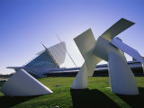 A Modern Sculpture on the Grounds of the Milwaukee Art Museum Photographic Print by Medford Taylor