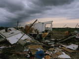 Destruction Left in the Wake of a Fierce F4 Category Tornado Photographic Print by Peter Carsten