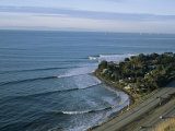 Epic Winter Surf Hitting Rincon Point Photographic Print by Rich Reid