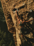 Climber on Smith Rocks, Oregon Photographic Print by Mark Cosslett