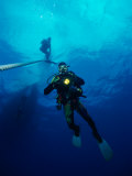 Divers in Chuuk (Formerly Truk) Lagoon Photographic Print by Heather Perry