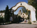 Carmel Mission, One of the Chain of Missions Founded by Father Junipero Serra Photographic Print by Joseph Baylor Roberts