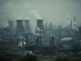 Oil Refinery in Scotland Photographic Print by Dick Durrance