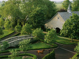 View of Barn and Grounds of Ashford Stud, a Prestigious Horse Farm Photographie par Melissa Farlow