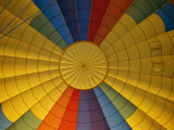 Looking up at the Inside of a Colorful Hot Air Balloon Photographic Print by Todd Gipstein