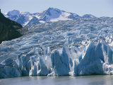 Close View of a Glacier Spilling into the Water off Chile Photographic Print by Mark Thiessen