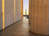 Washington Monument Seen from Inside the Lincoln Memorial Photographic Print by Sisse Brimberg
