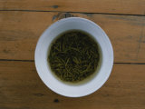 Tea Leaves Steep in a Cup of Hot Water for Green Tea Photographic Print by Jodi Cobb