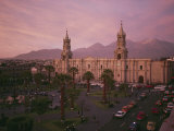 The Sun Shines on a Neoclassical Building in the Plaza De Armas in Arequipa Photographic Print by Stephen Alvarez