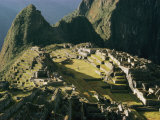 Elevated View of Machu Picchu Photographic Print by W. Robert Moore