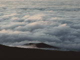 Low-Hanging Clouds Fill the Crater Photographic Print by William Allen