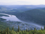 Dawson City and the Yukon River from the Top of the World Highway Photographic Print by Rich Reid