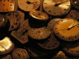 A Still Life of Old Watch Faces Fotografie-Druck von Joel Sartore
