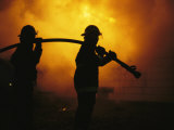 The Sewanee Volunteer Fire Department Practices Firefighting Photographie par Stephen Alvarez