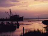 Fishing Boat Silhouetted at Twilight Photographic Print by Al Petteway