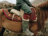 A Kirghiz Nomad on Horseback Photographic Print by Dugald Bremner