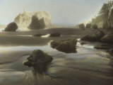 Rocks and Rock Formations are Exposed at Low Tide on the Olympic Peninsula Photographic Print by Annie Griffiths Belt