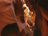 Patterns Created in the Red Sandstone of Antelope Canyon Photographic Print by Dugald Bremner