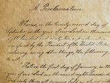 Close-up of a copy of the Emancipation Proclamation, Photographic Print