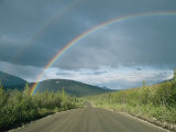 Double Rainbow over the Denali Highway Fotografisk tryk af Rich Reid
