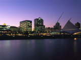The Milwaukee Skyline at Twilight Photographic Print by Medford Taylor