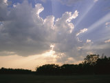 Sunbeams Shine Through the Clouds Photographic Print by Roy Toft