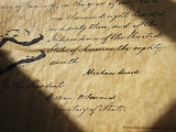 Close-up of Emancipation Proclamation with Abraham Lincolns Signature Photographic Print by Todd Gipstein