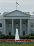 Front of the White House with Fountain and Flowers, Spring of 2000 Photographic Print by Stephen St. John