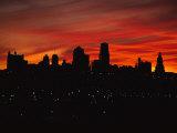 El sol se eleva sobre Kansas City, Misuri Lámina fotográfica por Alvarez, Stephen