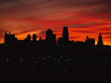 The Sun Rises over the Skyline of Kansas City, Missouri Photographic Print by Stephen Alvarez